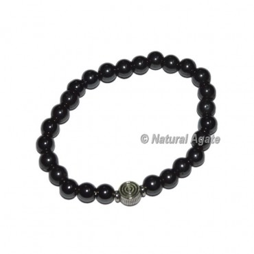 Pure Black Onyx Gemstone Bracelets With Choko Reiki