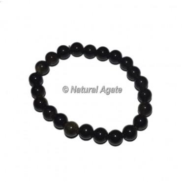Black Obsidian Gemstone Bracelets