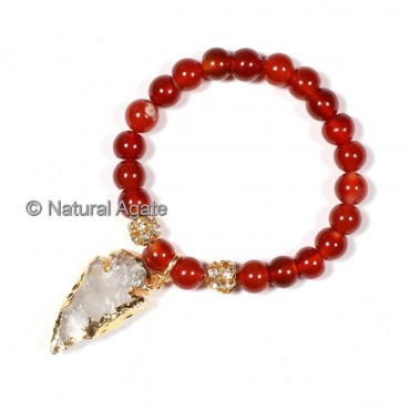 Red Carnelian With Arrowheads Bracelets