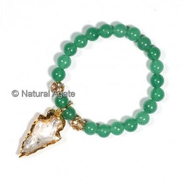 Green Aventurine  With Arrowheads Bracelets