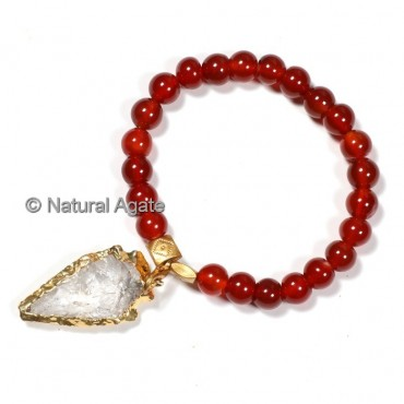 AAA Red Carnelian With Arrowheads Bracelets