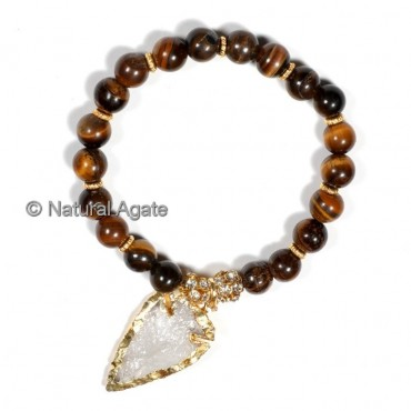 AA Yellow Tiger Eye  With Arrowheads Bracelets