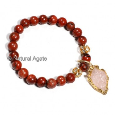 Red Jasper With Arrowheads Bracelets