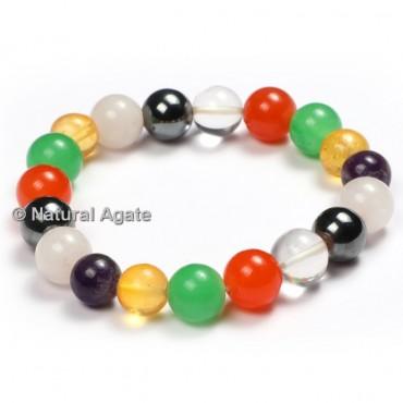 Chakra Healing Round Bracelets