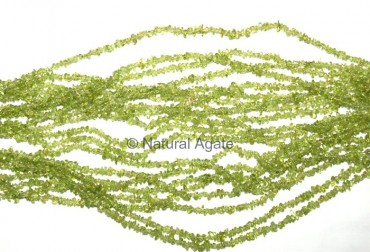 Peridot Chips Beads String