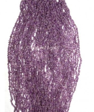 Amethyst Chips Beads String