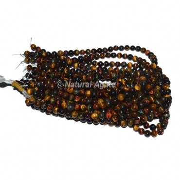 Red Tiger Eye Agate Beads