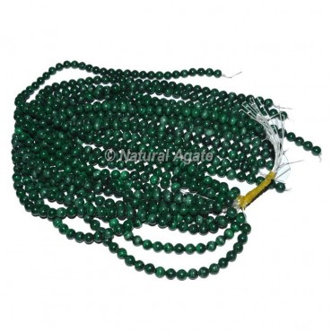 Malachite Gemstone Round Beads