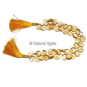Citrine Quartz Tear Drop Beads