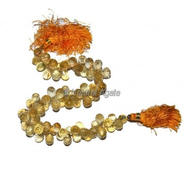 Citrine Faceted Drop Beads