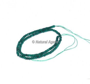Green Onyx Faceted Rondelle Beads