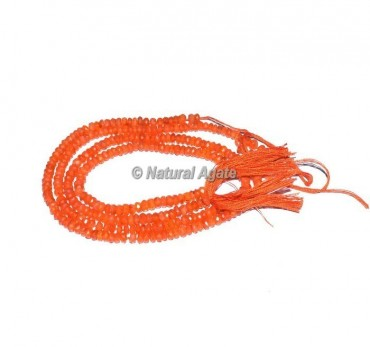 Carnelian Faceted Rondelle Beads