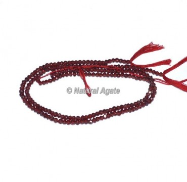 Garnet Faceted Rondelle Beads