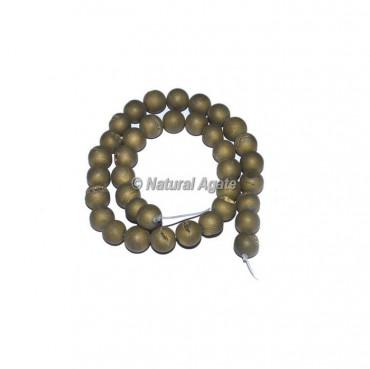 Pyrite Druzy Agate beads
