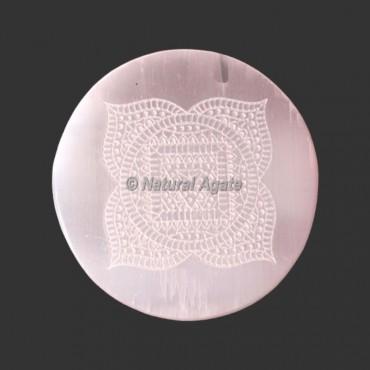 Beautiful Engraved Selenite Coasters Selenite Plates