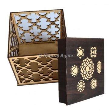Transparent Chakra Wooden Box