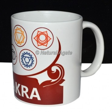 Red Printed Chakra Cup