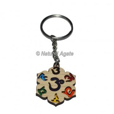Seven Chakra Sanskrit Keychain