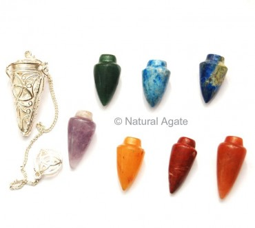 Chakra Cage Pendulums with seven stone