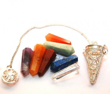 Chakra Cage Pendulums with Point