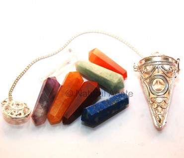 Cage Pendulums with Chakra Stone