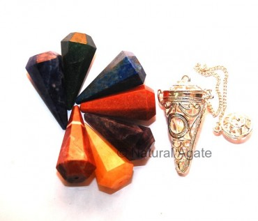Chakra Cage Pendulums with Faceted Pendulums