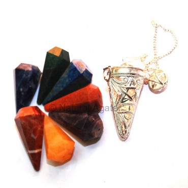 Pentagram Chakra Cage Pendulums