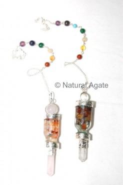 Chakra glass bottle Pendulums
