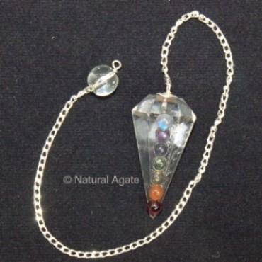 Chakra Cabs Crystal Quartz Pendulums