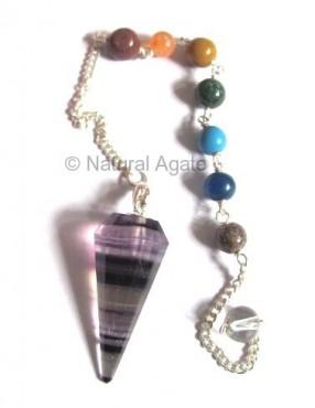 Multi flourite chakra Pendulums