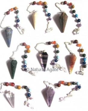 Mix Gemstone Chakra Pendulums