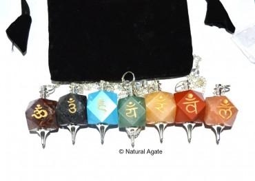 Chakra Sanskrit Pendulums Set