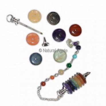 Chakra Tyre Shape Pendulums