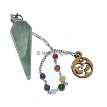 Green Aventurine 12 Faceted Chakra Pendulums