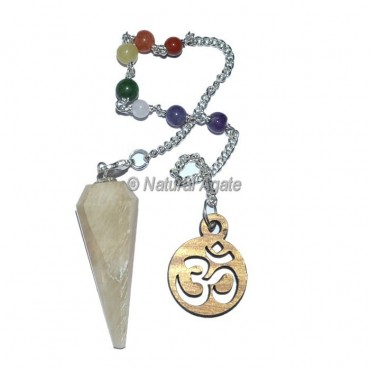Moonstone 12 Faceted Chakra Pendulums