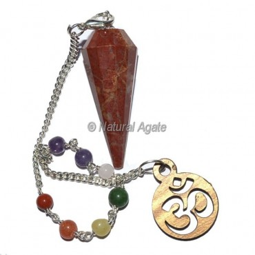 Red Jasper 12 Faceted Chakra Pendulums