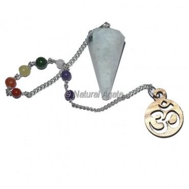 Rainbow Moonstone 12 faceted chakra Pendulums