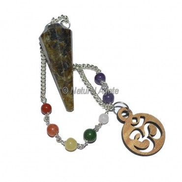 Labrodrite 12 faceted chakra pendulums