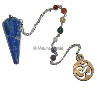Lapis Lazuli 12 faceted chakra pendulums