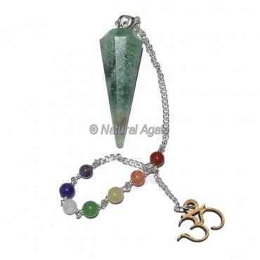 Green jade 12 Faceted Chakra Pendulums