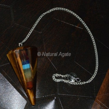 Tiger Eye Pendulums with Chakra Point
