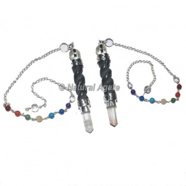 Blue Aventurine Spiral Chakra Pendulum