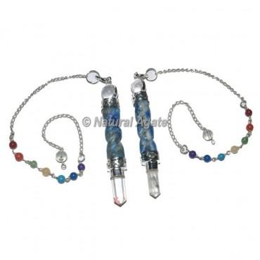Lapis Lazuli Spiral Chakra Pendulum