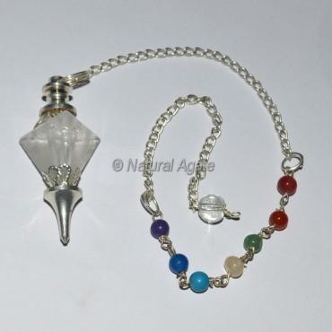 Tetrahedron Crystal 7 Chakra Pendulum