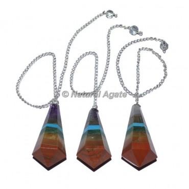 Agate 7 Chakra Pendulums