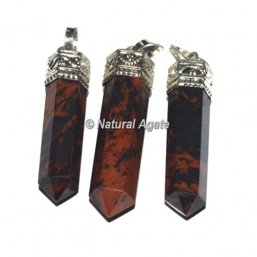 Mahagoni Obsidian Agate Cap Pencil Pendants