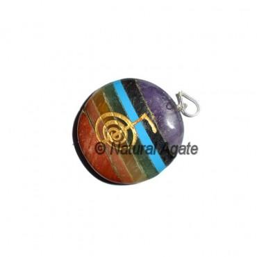 Choko Reiki Bonded Chakra Disc Pendants