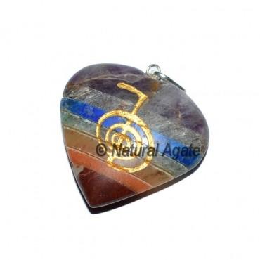 Choko Reiki Bonded Chakra Heart Pendants