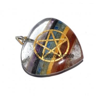 Quartz Chakra Pentagram Reiki Pendants