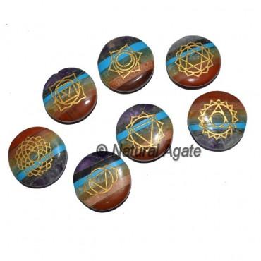 Engraved Bonded Chakra Disc Set